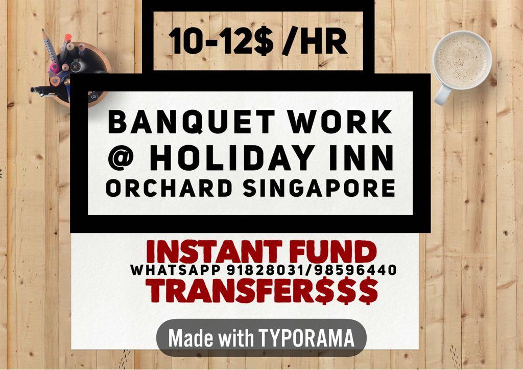 BANQUET PART TIME / waiter or waitress