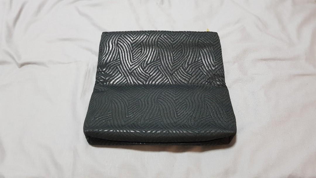 Black makeup pouch/clutch