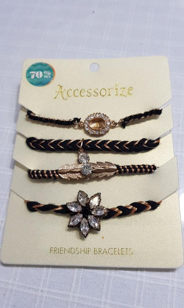 BN black & gold bracelets (set of 4)