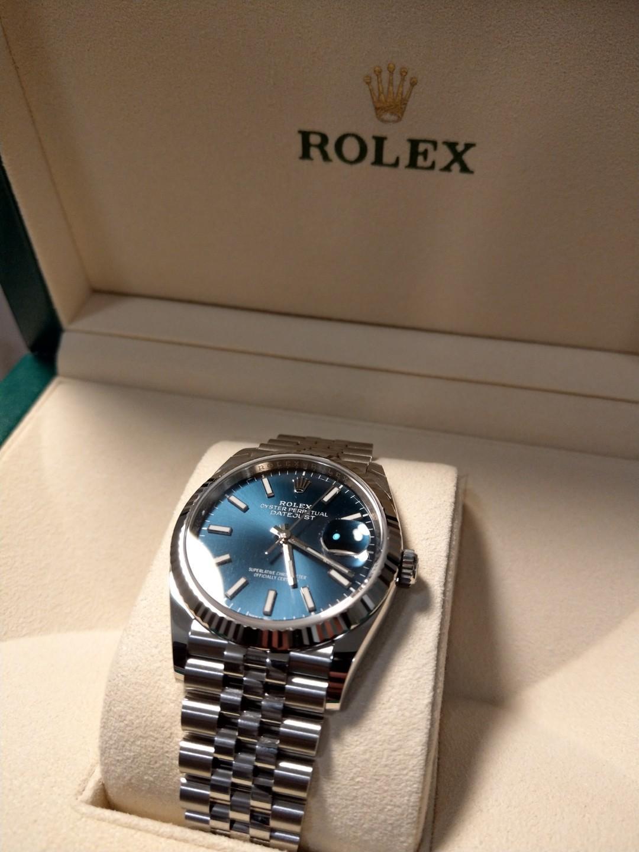 BNIB 2019 *BLUE* Rolex Datejust 126234 (36mm)