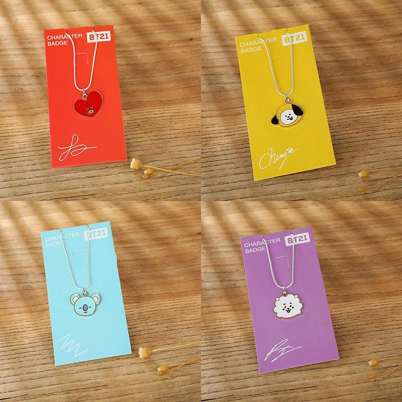 BTS Cartoon BT21 Necklace Metal Alloy Jewelry Women