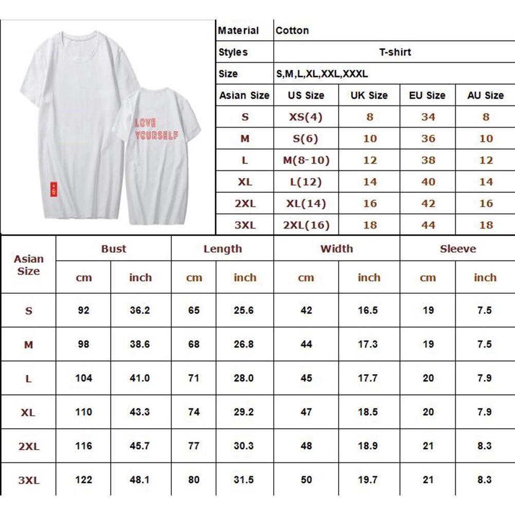 BTS LOVE YOURSELF World Tour T-Shirt Unisex Tee Shirt