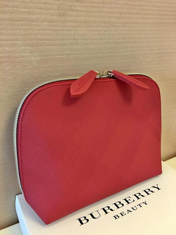 Burberry Beauty Red Pouch comes in original packaging.