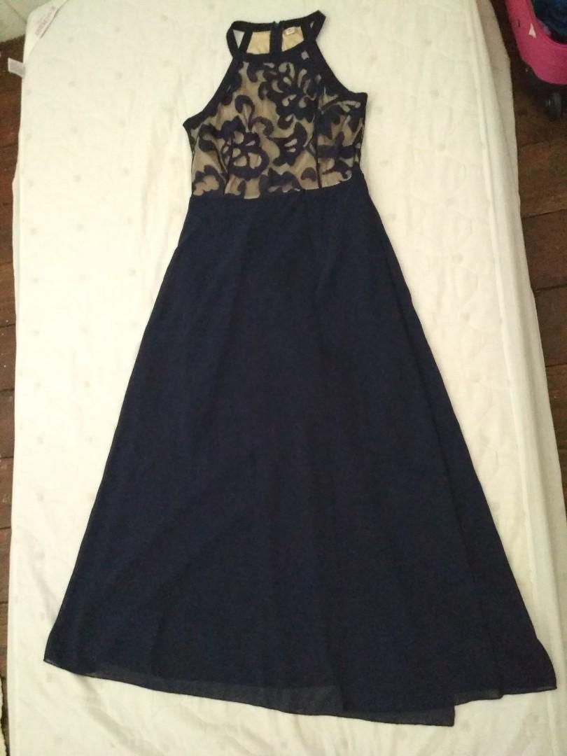Dark blue dinner dress