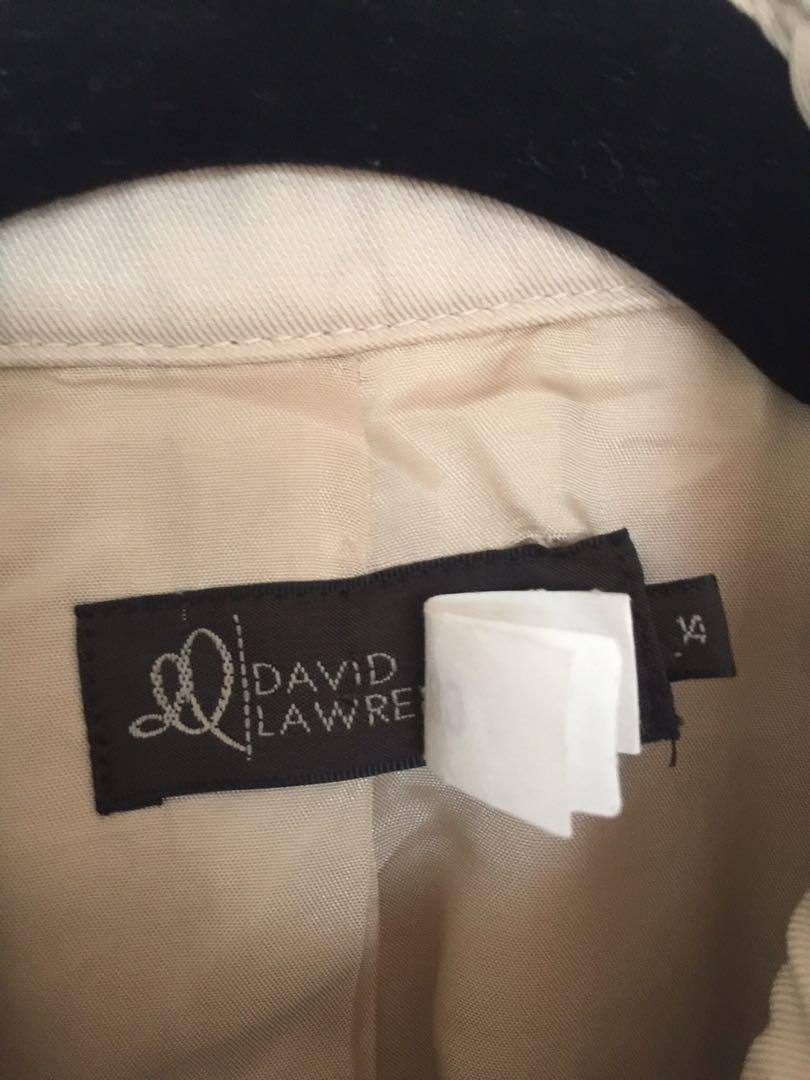 David Lawrence- Beige - Trench Coat - Size 14