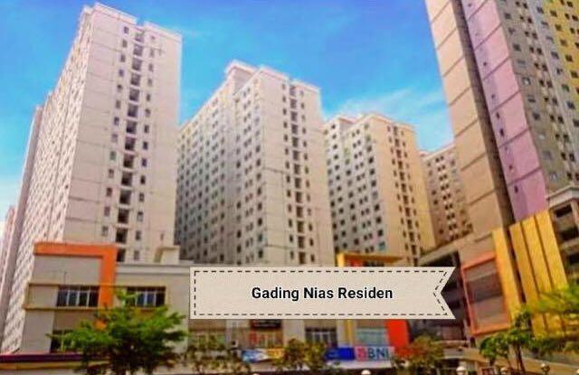 Disewakan apartemen gading nias residence