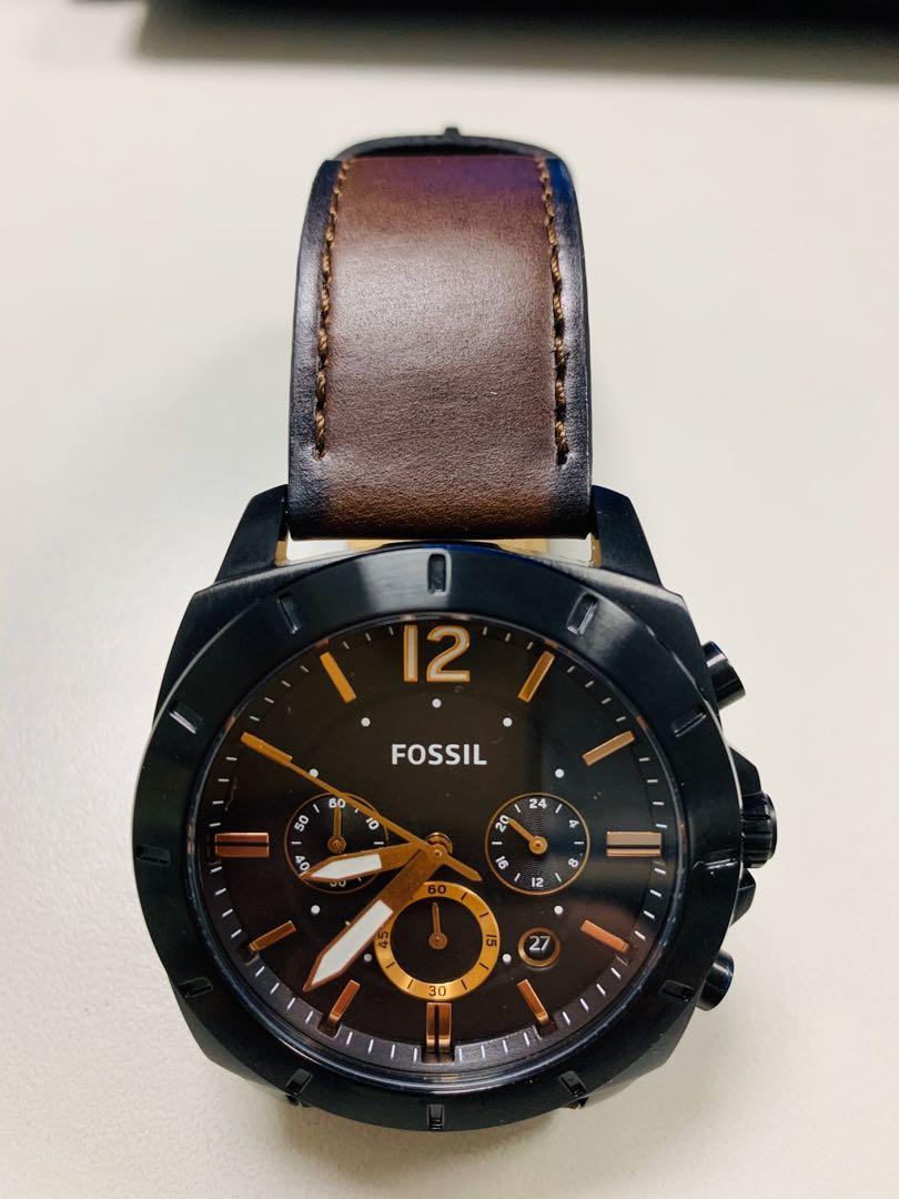 Fossil 三眼皮錶帶男用錶