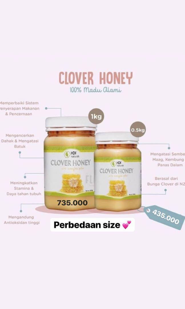 HDI Clover honey (madu dengan bee polen)