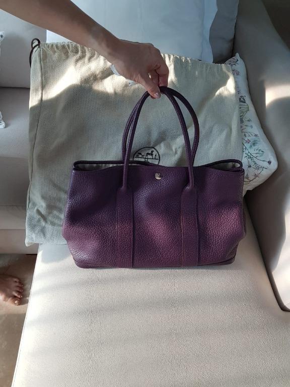Hermès Garden Party 36 Anemone Color Purple Negonda Leather Tote