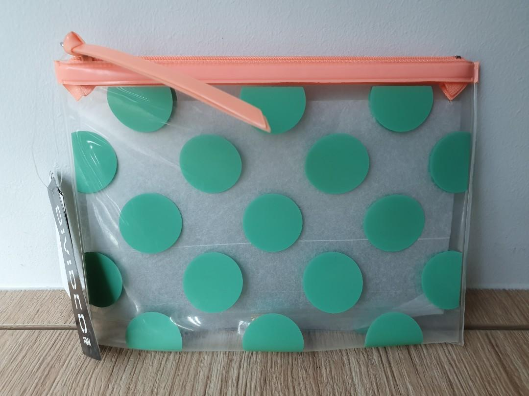 Fast deal $4! [H&M] Polka Dot Pencil Case/Makeup pouch