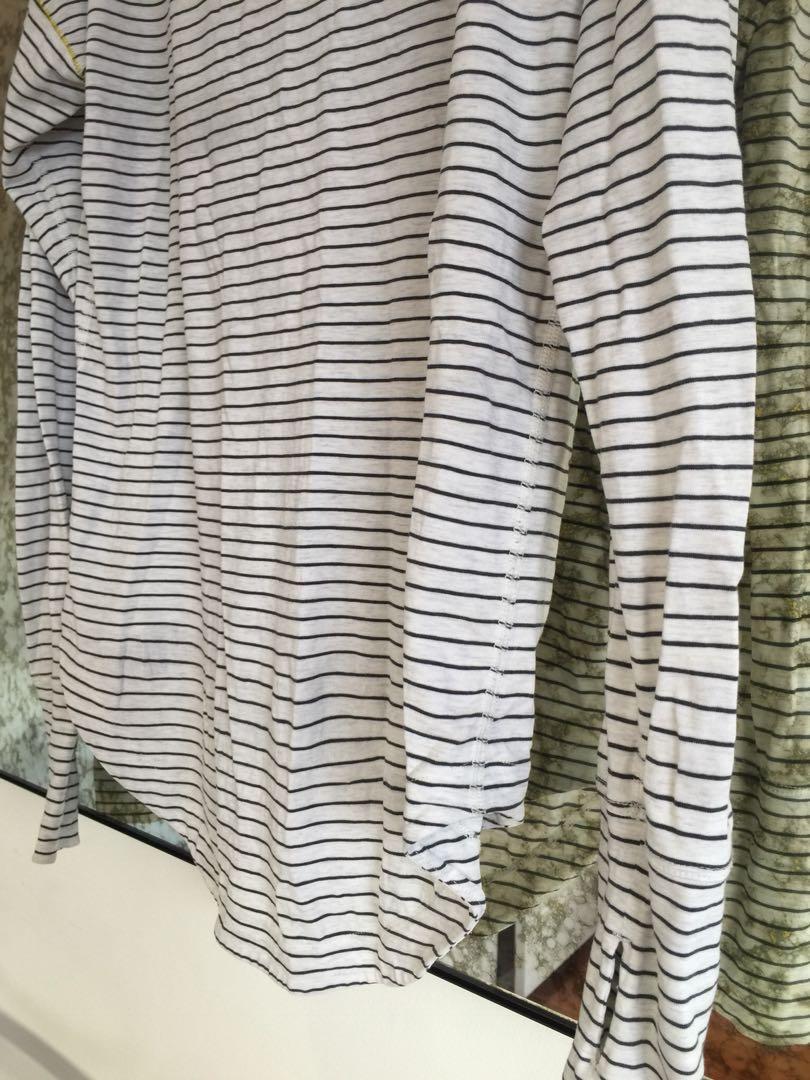 Lululemon- Stripe Long Sleeve Top - 12/14