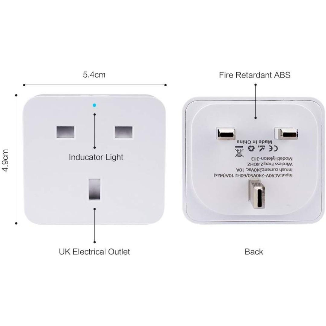 2 Pack Echo Echo Dot Google Home,Wireless Remote Control Socket//Energy Monitoring Plug//Timer Plug Switch//WiFi Plugs//No Hub Required 16A Smart Plug ASZKJ Mini WiFi Socket//Compatible with Alexa