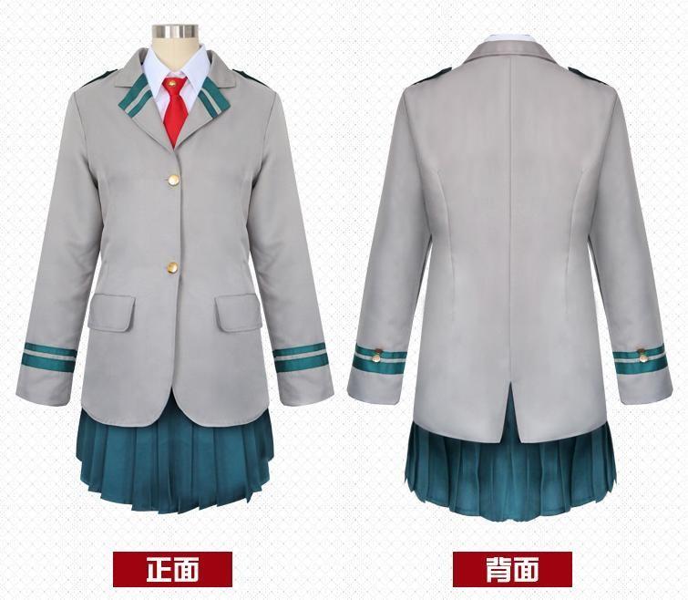 My Hero Academia Boku no Hero Akademia (BNHA) Chalk Uraraka Kyoka Jiro Tsuyu Asui Female School uniform Cosplay Costume