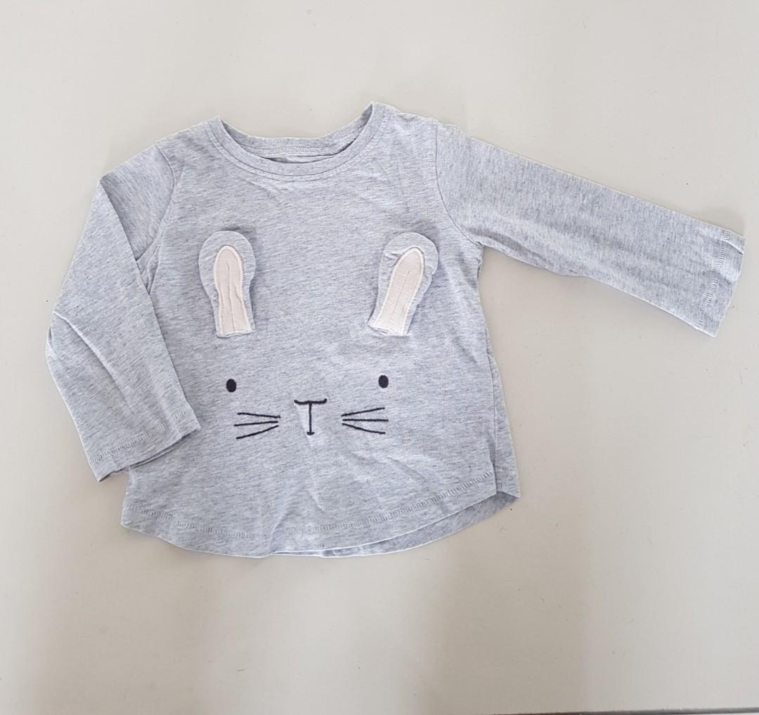 "Next UK ""Grey Rabbit"" Long Sleeves Top"