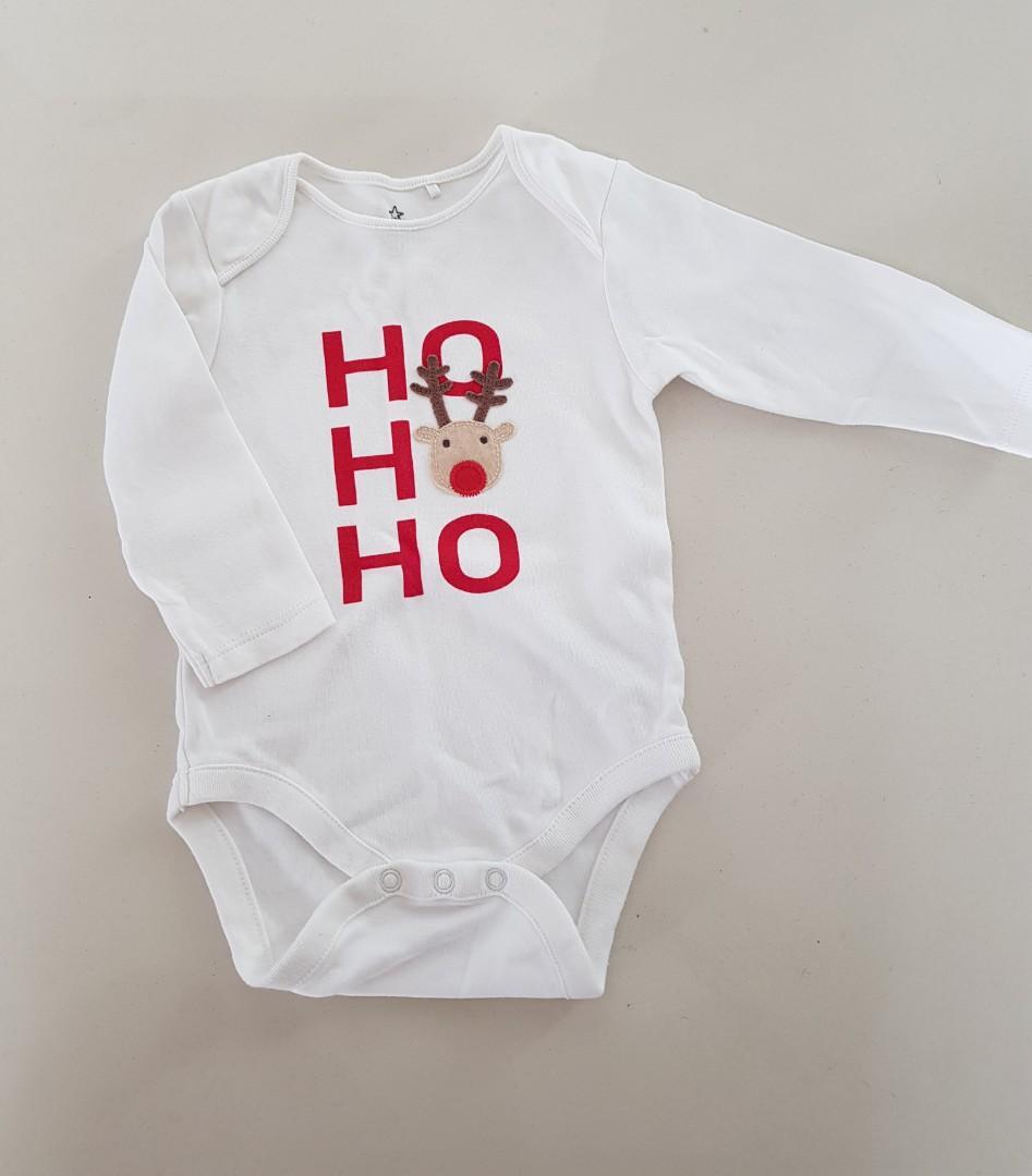 """Next UK """"Ho Ho Ho"""" Christmas long sleeves romper #christmas"""