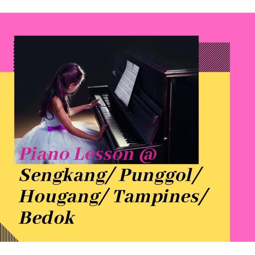 Piano Lessons @ Sengkang/ Punggol/ Hougang/ Tampines/ Bedok