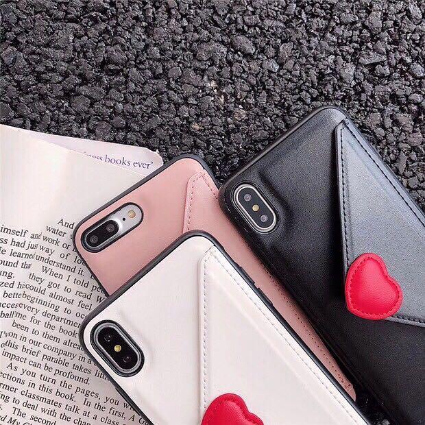 [PO] Love Letter Envelope PU Leather Cardholder iPhone Case