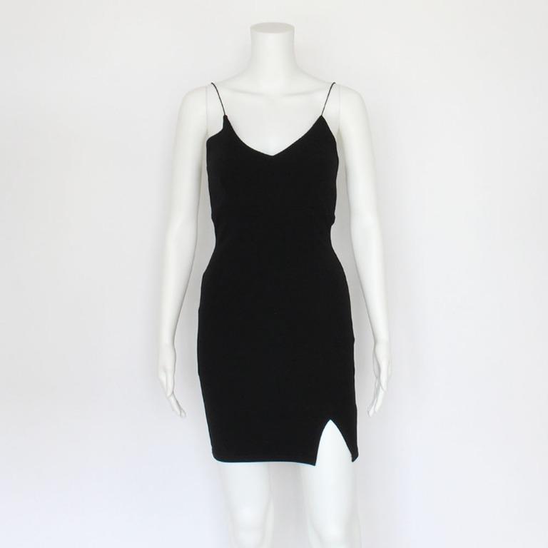 Pretty Little Thing Black Skinny Strap Bodycon Dress