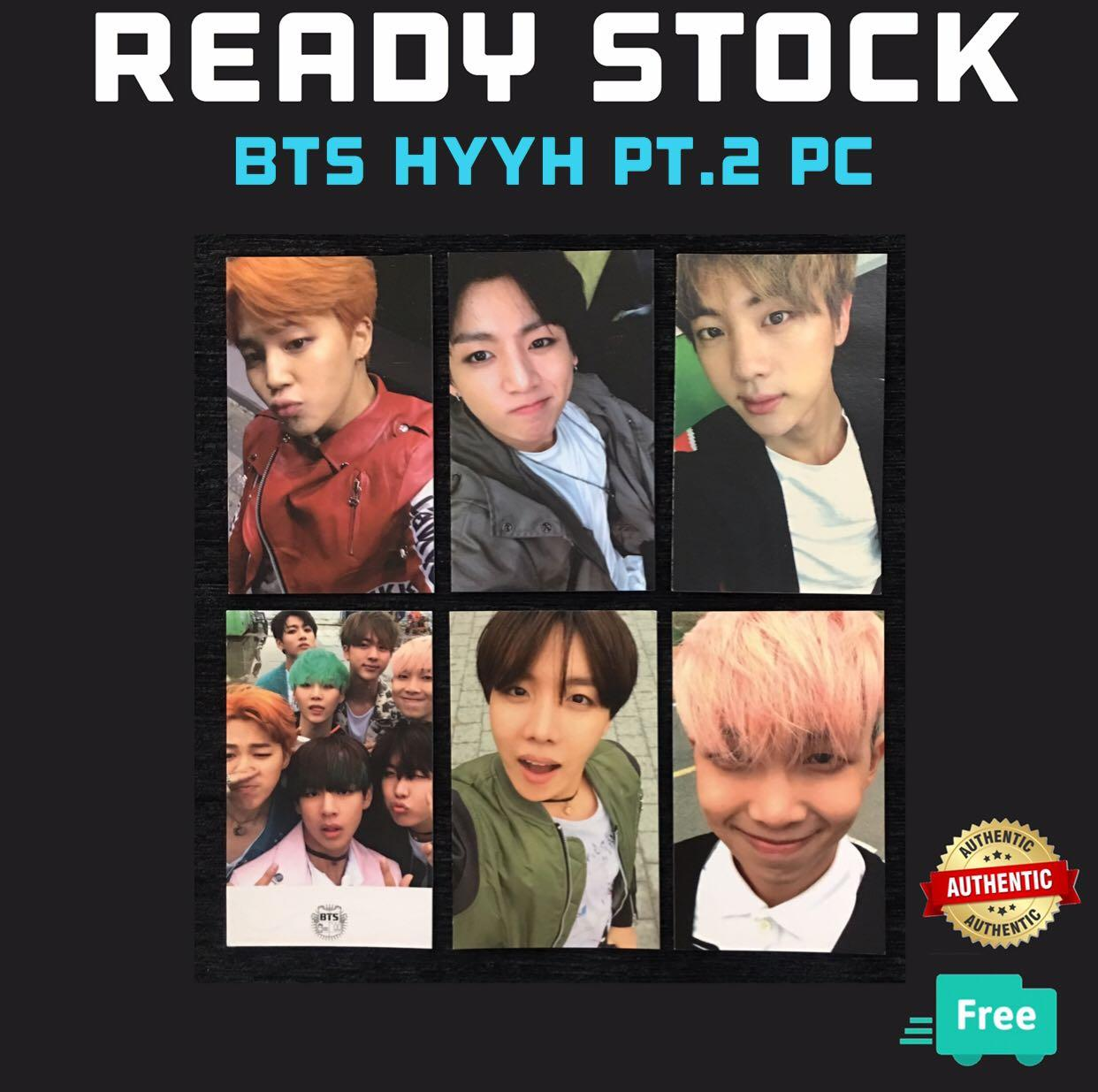 (RESTOCK) OFFICIAL BTS HYYH PT 2, The Most Beautiful Moment in Life PC PHOTOCARDS