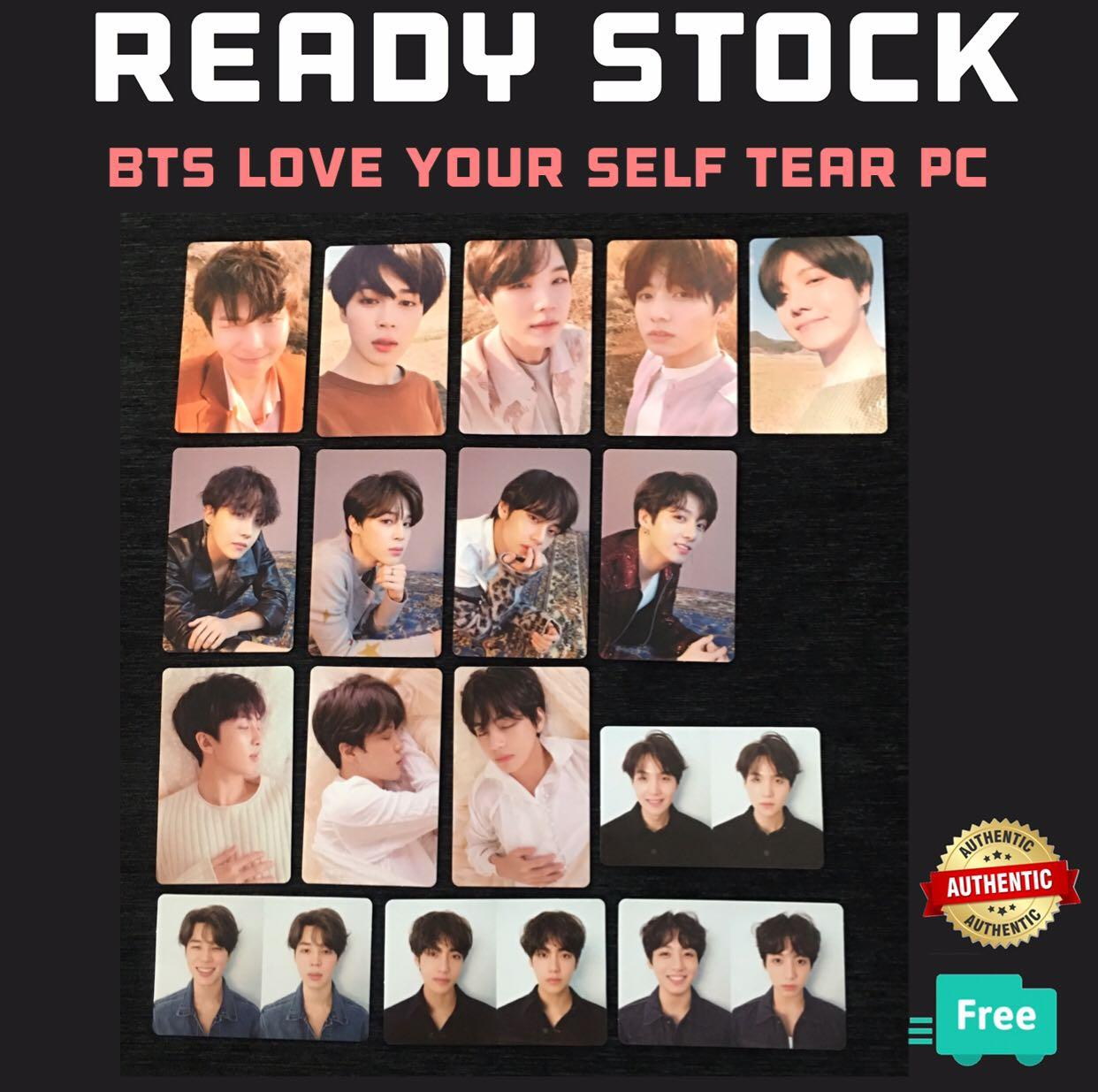(RESTOCK) OFFICIAL BTS LOVE YOURSELF TEAR PHOTOCARDS