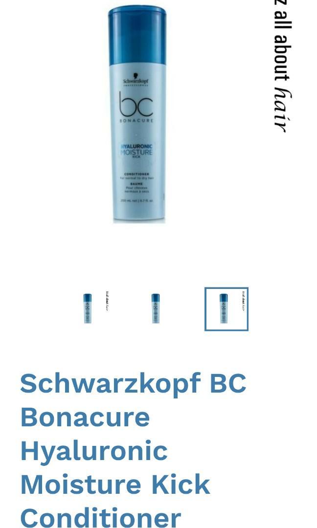 Schwartzkopf Hyaluronic Moisture Shampoo - Hyaluronic Moisture Conditioner - Peptide Repair Rescue