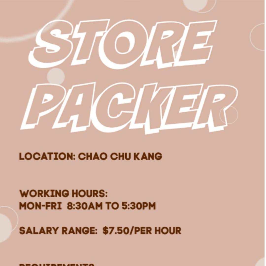 Store-Packers @ CCK [Now to Dec/long term!]