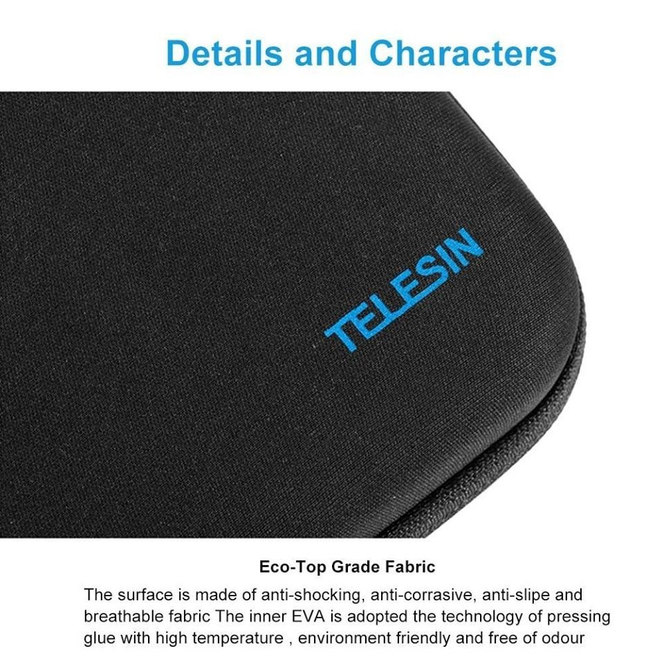 TELESIN M Size Carry Bag Case Box for GoPro Hero 7 6 5 4 3 2 SJCAM SJ4000 for Xiaomi Yi 4