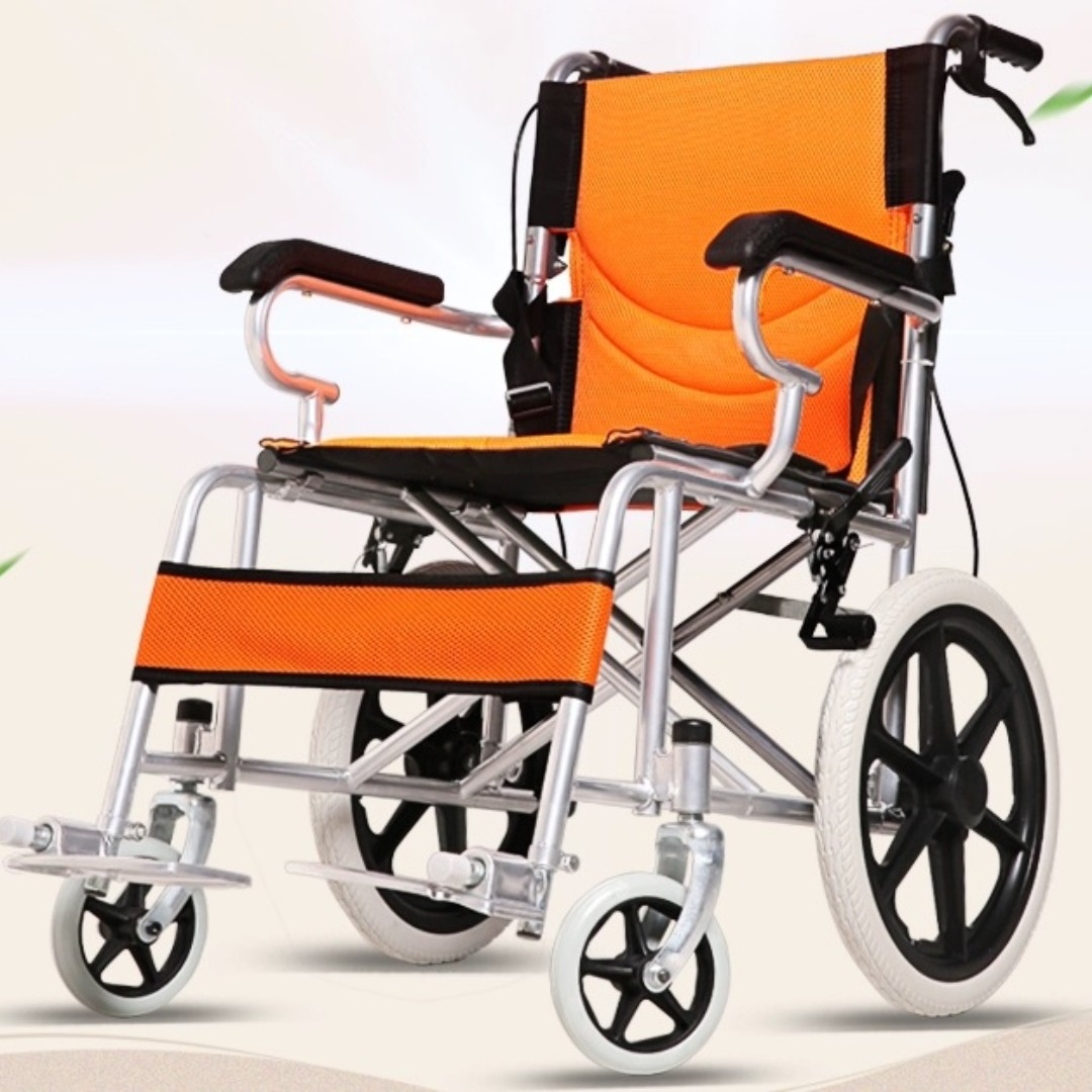 WHEELCHAIR- LIGHTWEIGHT, COMPACT AND FOLDABLE.