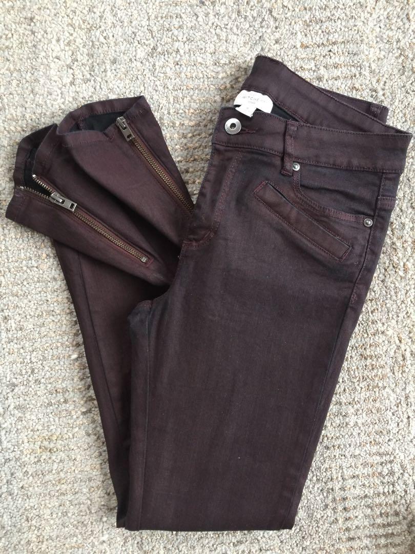 Witchery- Burgundy Pants - Size 11