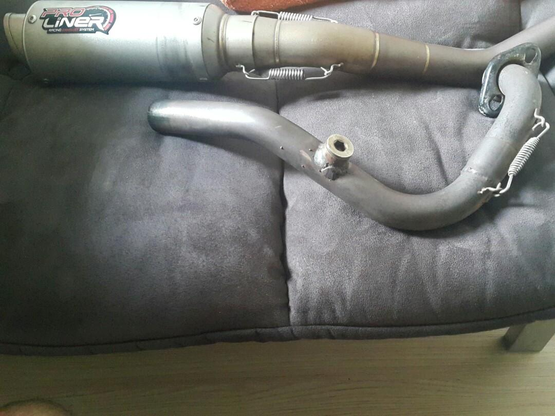 (JUALAN COMBO!!!) Y15 PROLINER EXHAUST TR1 32MM MANIFOLD + EXHAUST APIDO CUTT STD 28MM