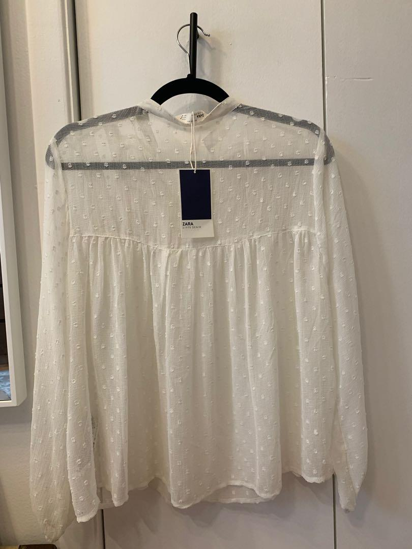Zara boho white top XS