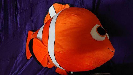 Disney迪士尼60cm小丑魚尼莫玩偶海底總動員抱枕頭枕靠墊生日禮物聖誕禮物