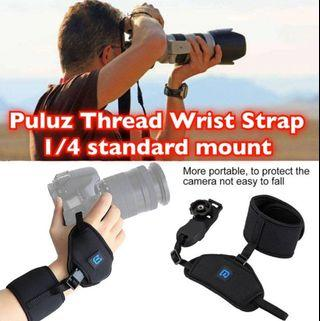 PULUZ 1/4 Inch Thread Wrist Strap Mount Camera Hand Strap DSLR Armband Security Belt