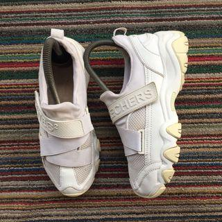 Skechers, D'lites 2 in White Leather