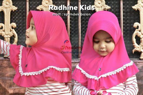 Jilbab anak radhine renda