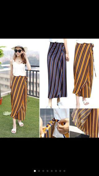 Vintage Beach Stripe style holiday wind beach skirt