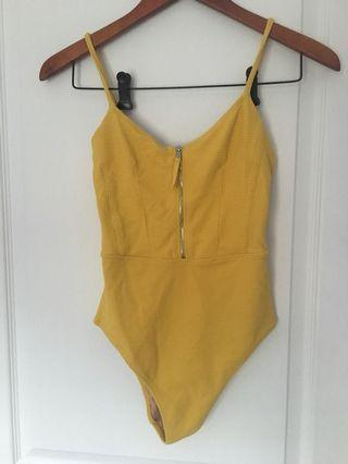 H and M Yellow body suit