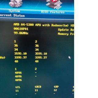 AMD A4-5300 CPU GA-F2A55M-DS2 主機板 DDR3 1600 4G*1