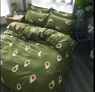 4 Pcs Set (Bedsheet Cover, Pillow Cases, Quilt cover)