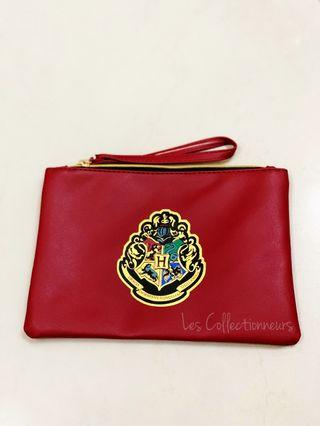 Hogwarts Express Hogwarts School Red PU Leather Pouch Bag with Zip