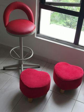 Like New Red Stools