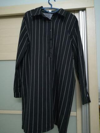 Black Stripe Blouse