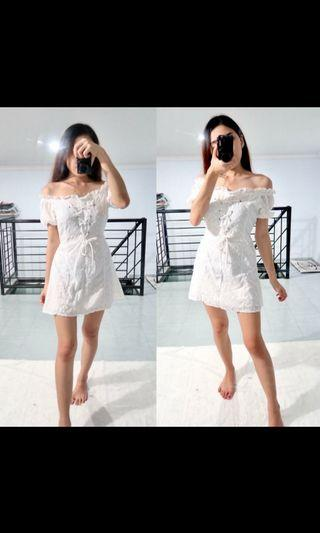 Dress white baby doll