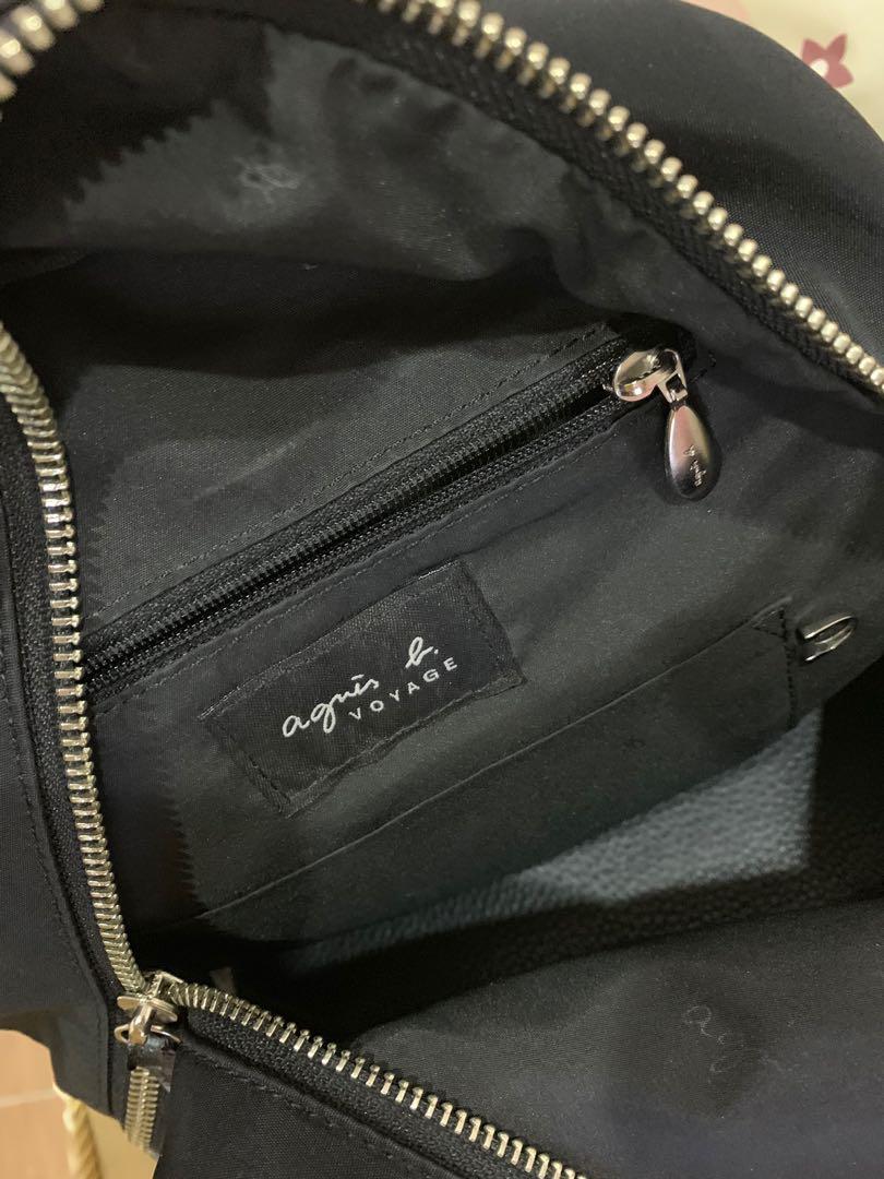 Agnes  b 黑色後背包 原價11200 附紙袋 保證正品 日本購入 95成新 全長與寬約27cm