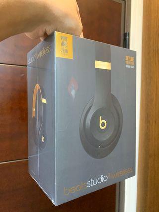 Beats Studio3 Wireless 頭戴式耳機 - Beats Skyline Collection - 午夜黑色