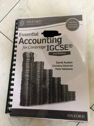 Essential Accounting for Cambridge IGCSE 2nd eddition