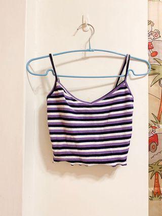 紫色條紋背心!