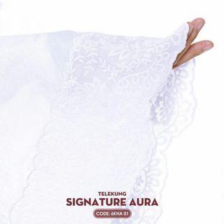 Telekung aura white