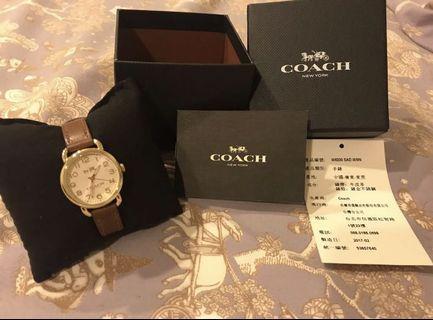 Coach皮革手錶