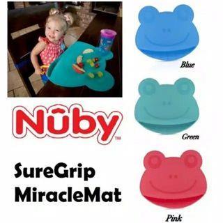 KONDISI BARU!! Nuby Frog Sure Grip Miracle Silicone Placemat Mat / alas makan bayi 6M+ WARNA BIRU